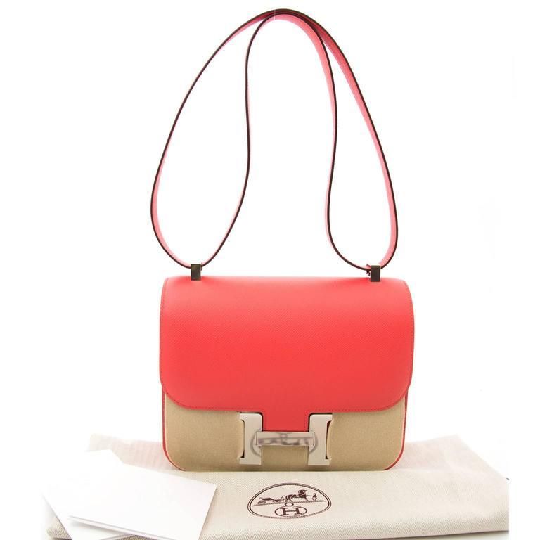 3ce325d7206f BRAND NEW Hermès Constance 24cm Epsom Rose Jaipur For Sale at 1stdibs
