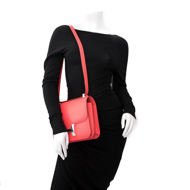 BRAND NEW Hermès Constance 24cm Epsom Rose Jaipur 9