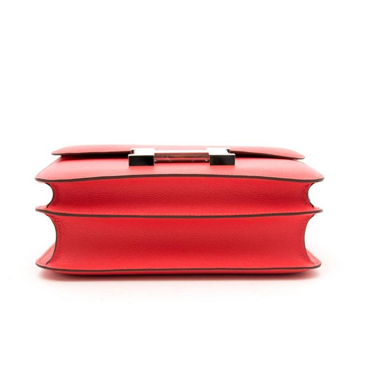 BRAND NEW Hermès Constance 24cm Epsom Rose Jaipur 5