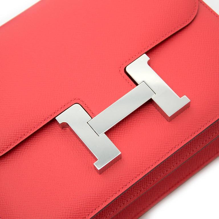 BRAND NEW Hermès Constance 24cm Epsom Rose Jaipur 6