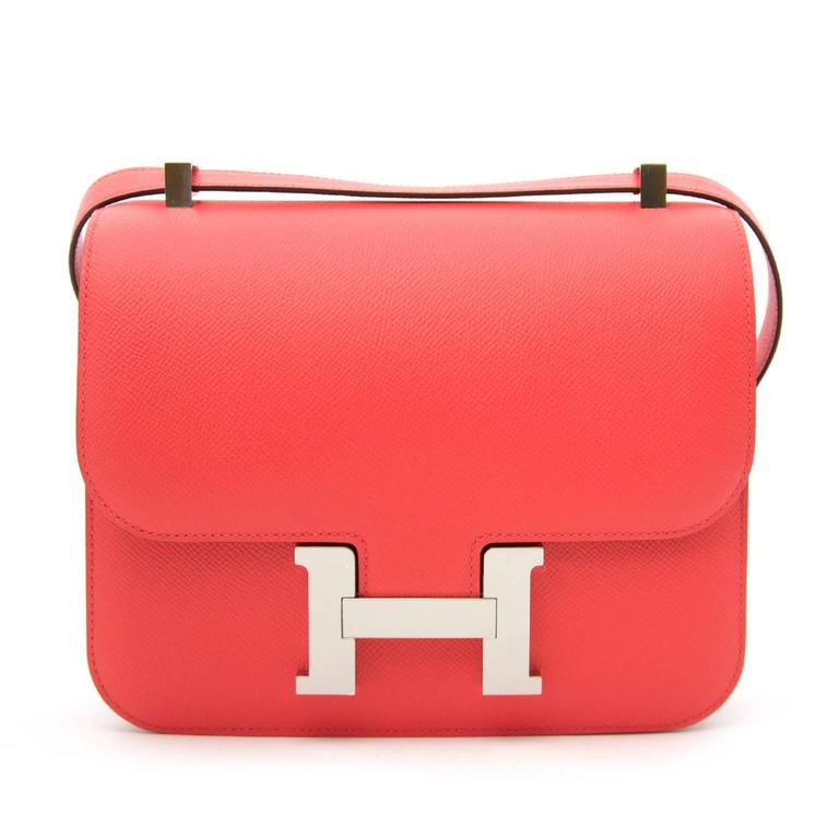 BRAND NEW Hermès Constance 24cm Epsom Rose Jaipur 7