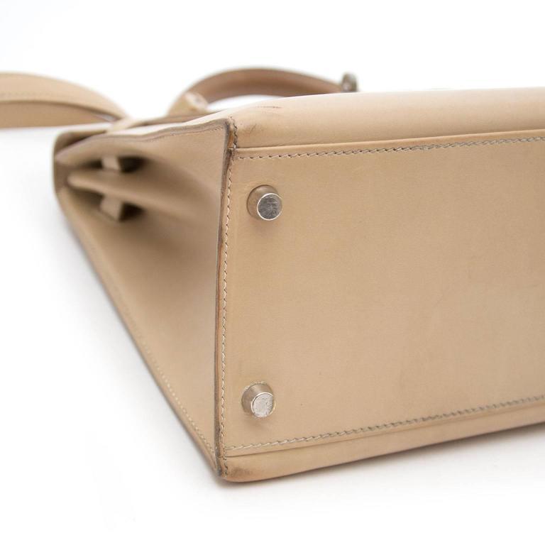 Hermes Kelly 32 Poussiere Box Calf + Strap 4