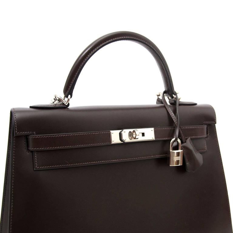 Hermes Kelly Chocolate 32  + Strap 4