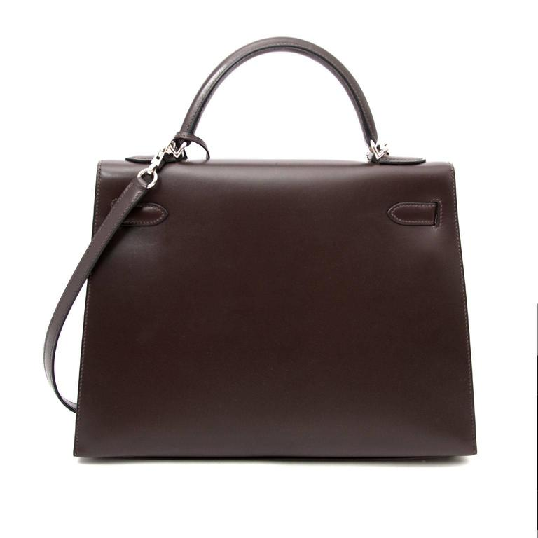 Hermes Kelly Chocolate 32  + Strap 5