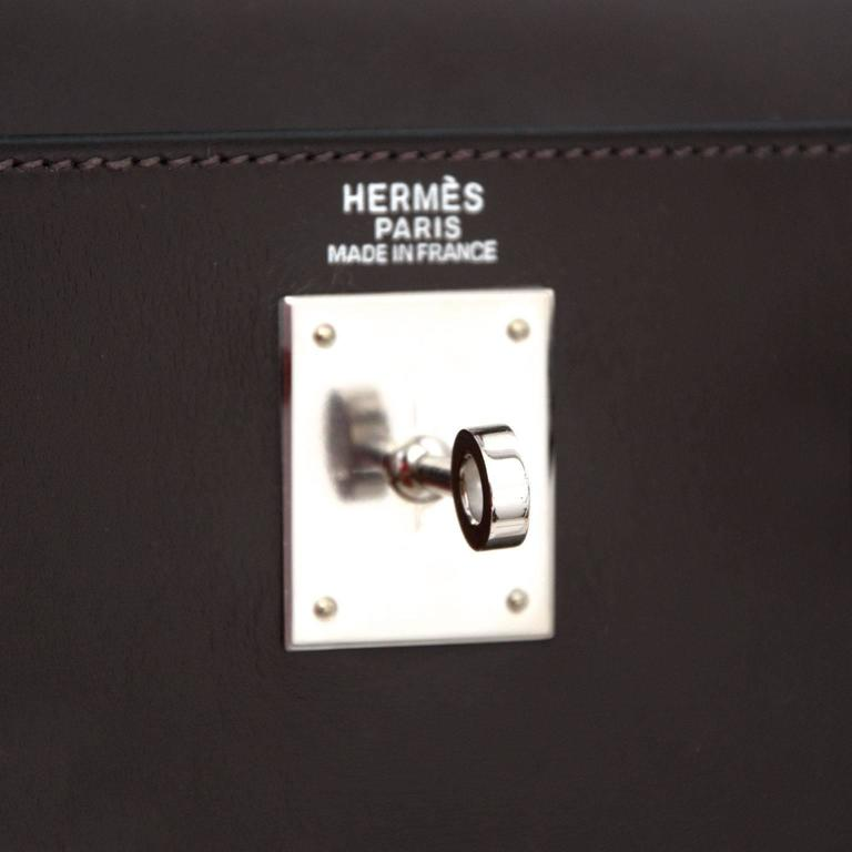 Hermes Kelly Chocolate 32  + Strap 7