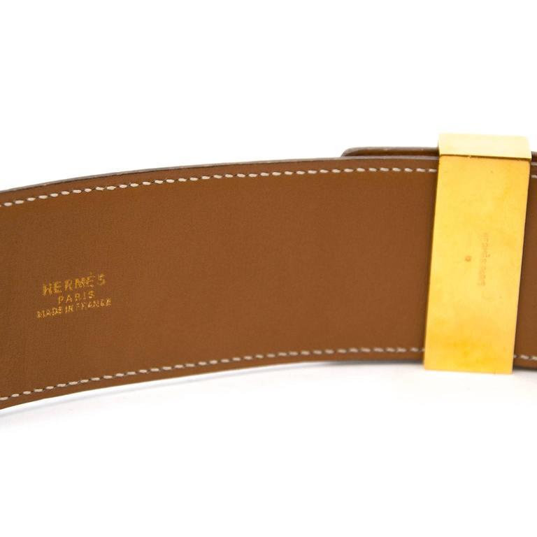 Hermes Brown Collier De Chien Belt  In Excellent Condition For Sale In Antwerp, BE