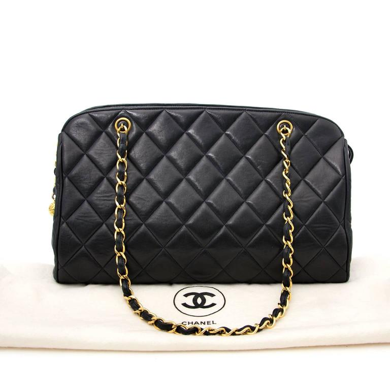 Chanel Navy Quilted Leather Shopper 6