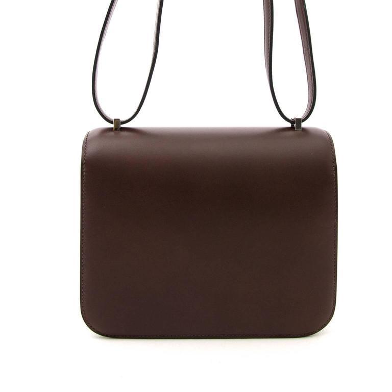 Brand New Hermès Constance Mini Moka Butler Leather For ...
