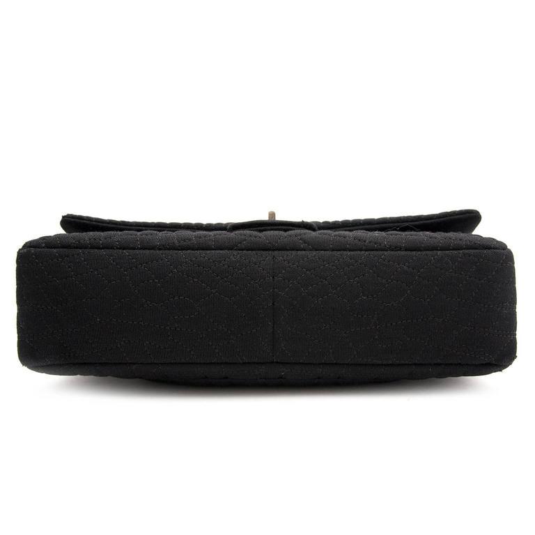 Chanel Large 2.55 Black Fabric Bag 5