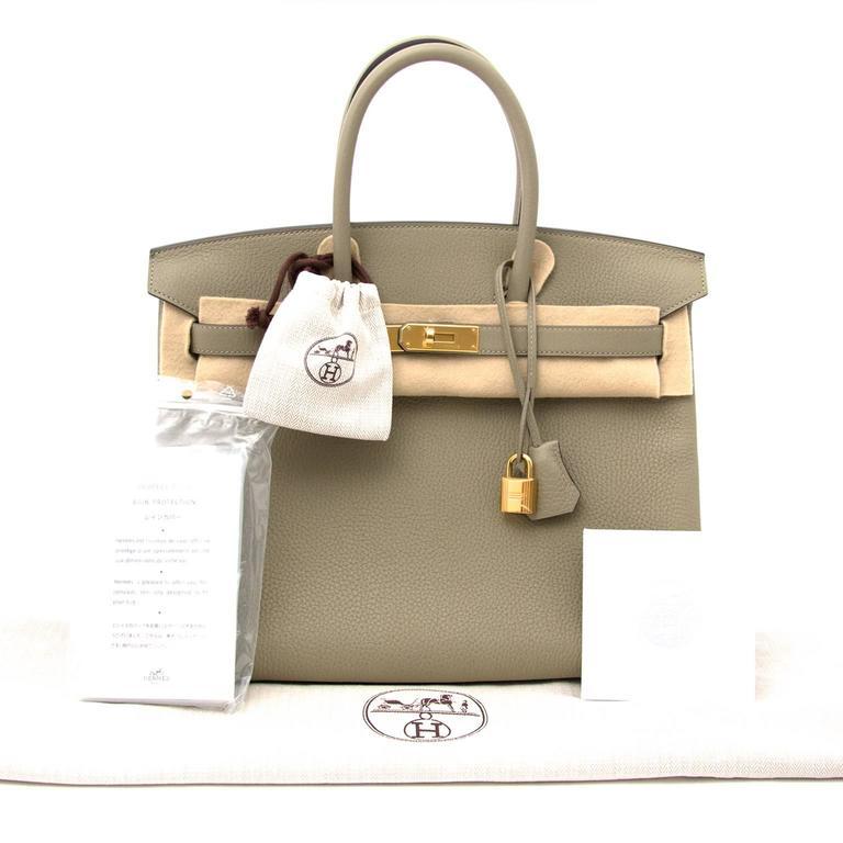 Hermès Birkin 35 Taurillon Clemence Sauge 8