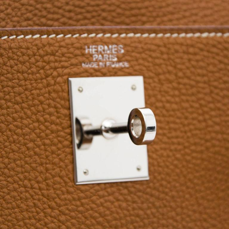Hermès Kelly 32 Togo Gold PHW For Sale 2