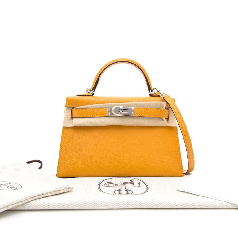 brand new hermes mini kelly 20 moutarde at 1stdibs