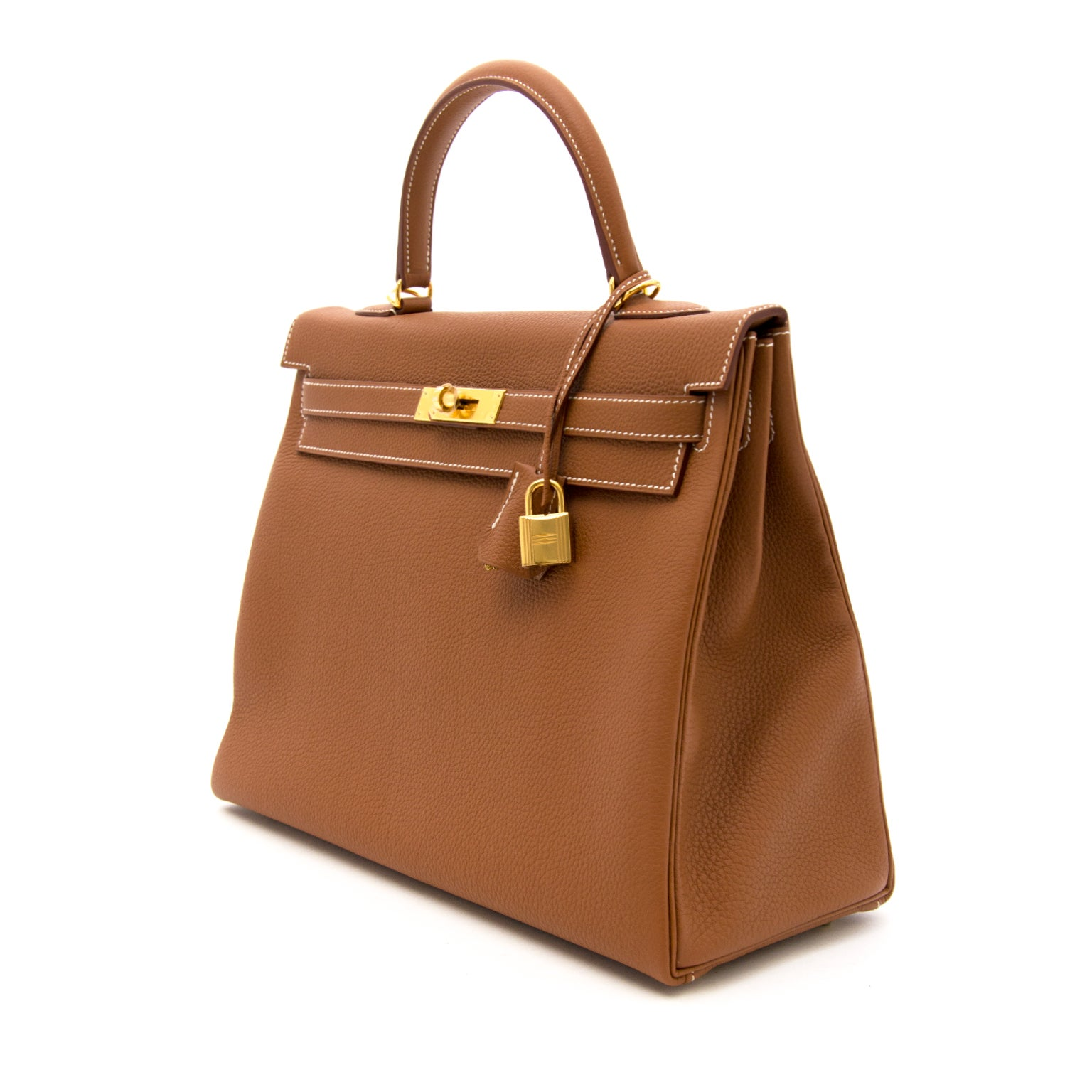 c6a9cdce89d2 Brand New Hermes kelly 35 Gold Togo GHW at 1stdibs