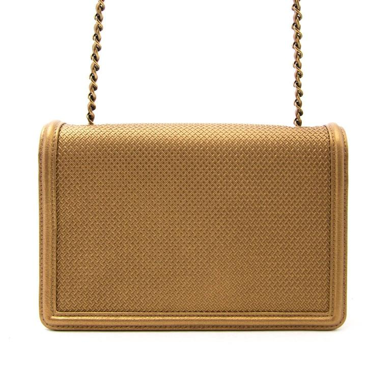 AS NEW Chanel Gold Micro Retro Flap Bag  5