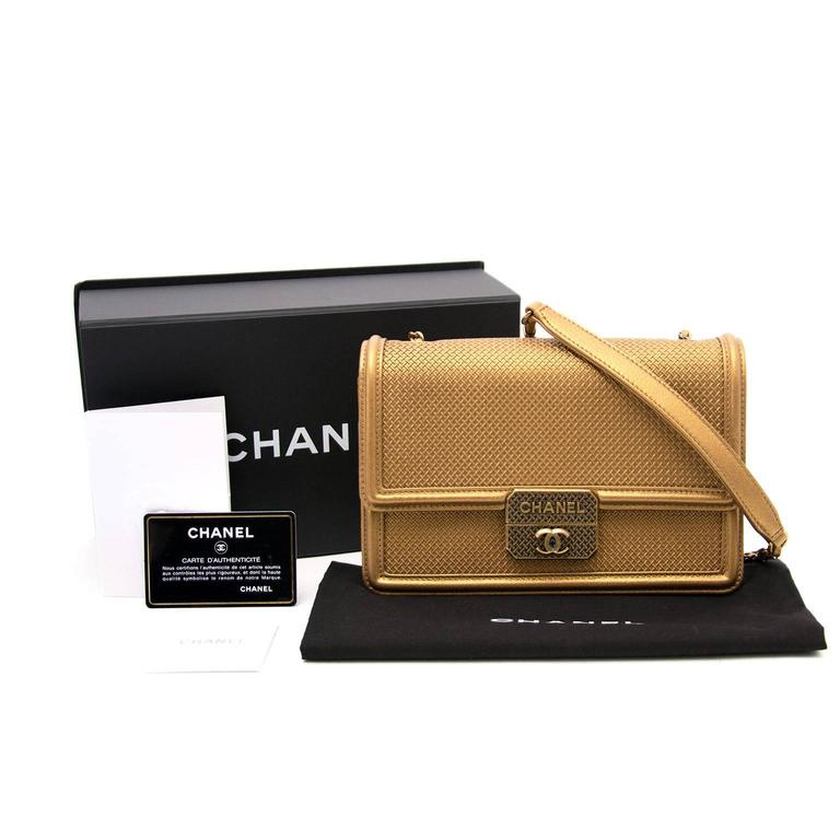 AS NEW Chanel Gold Micro Retro Flap Bag  7
