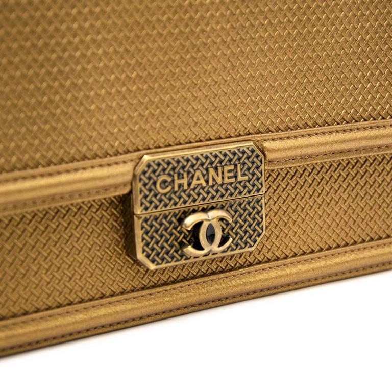 AS NEW Chanel Gold Micro Retro Flap Bag  8