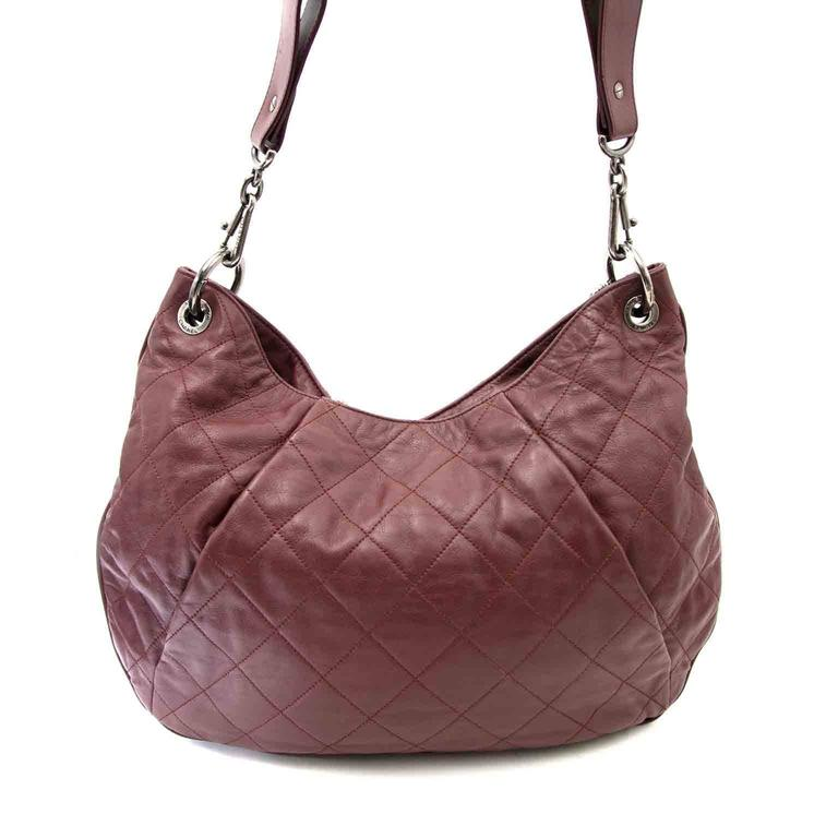 Brown Chanel Burgundy Hobo Bag For Sale