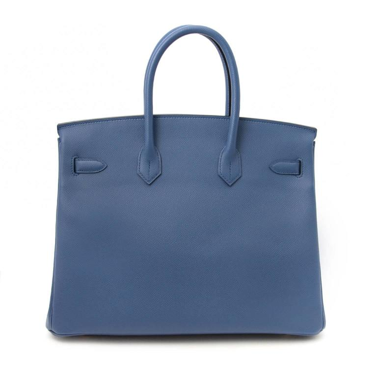 Women's or Men's Brand New Hermes Birkin 30 Epsom Bleu Agate GHW For Sale