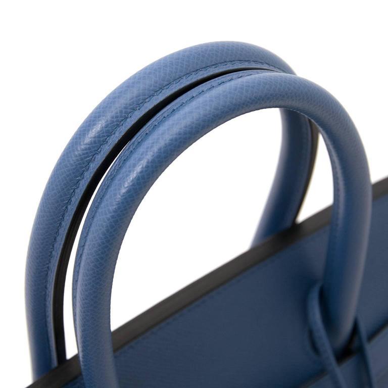 Brand New Hermes Birkin 30 Epsom Bleu Agate GHW 6