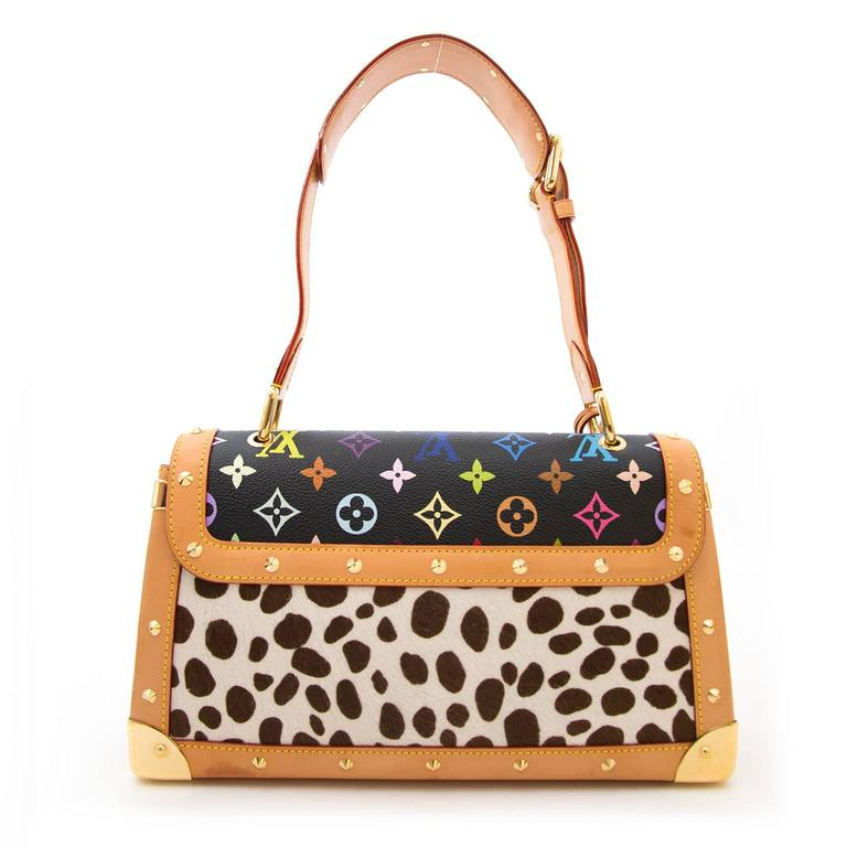 Louis Vuitton Dalmatian Sac Rabat Pony Hair Monogram Bag In Good Condition For Sale In Antwerp, BE