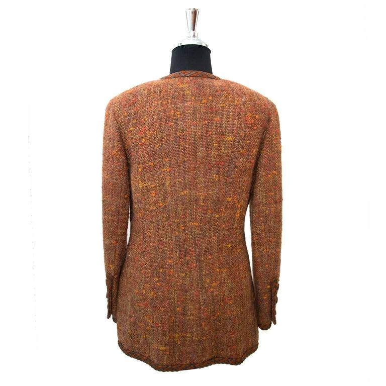 Chanel Autumn Wool Blazer - Size 40 2
