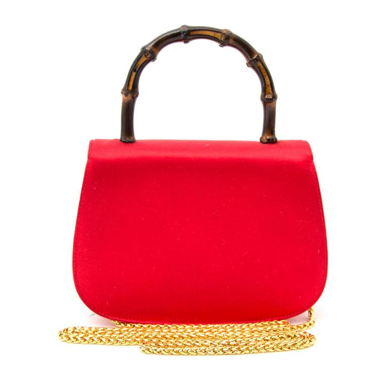 fcbf13d5dd61 vintage gucci bag red leather with bamboo handle - Ecosia