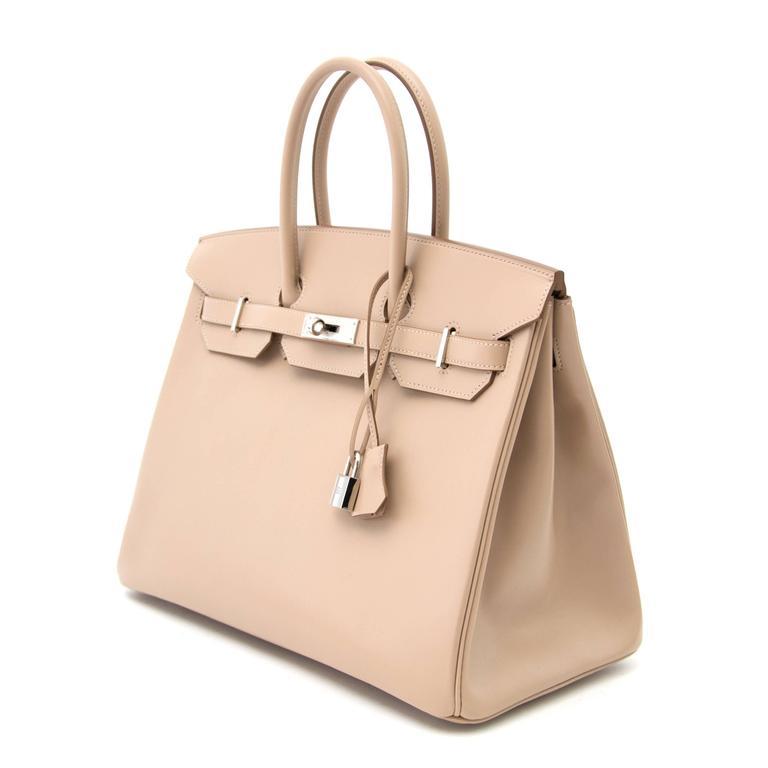 Women's or Men's Brand new Hermès Birkin 35 Guilloche Tadelakt Argile For Sale