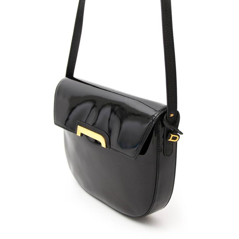Delvaux Black Crossbody Bag Patent Leather  For Sale 1