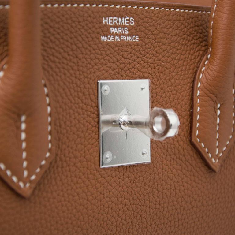 Hermes Birkin 35 Togo Gold PHW  For Sale 2