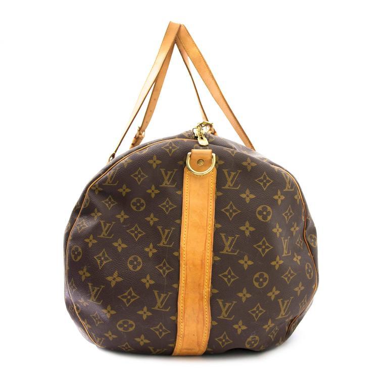 Black Louis Vuitton Monogram Polochon Travel Bag For Sale