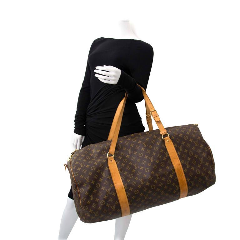 Women's or Men's Louis Vuitton Monogram Polochon Travel Bag For Sale