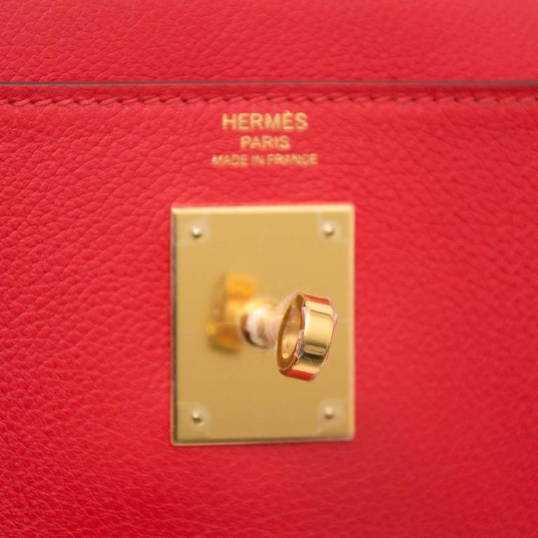 Hermes Kelly 28 Capucine Evercolor For Sale 1