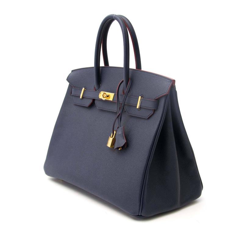 d577738c20 Never Used Never Used Hermes Birkin Blue Indigo Contour Hermes Limited  contour Blue Indigo Birkin 35