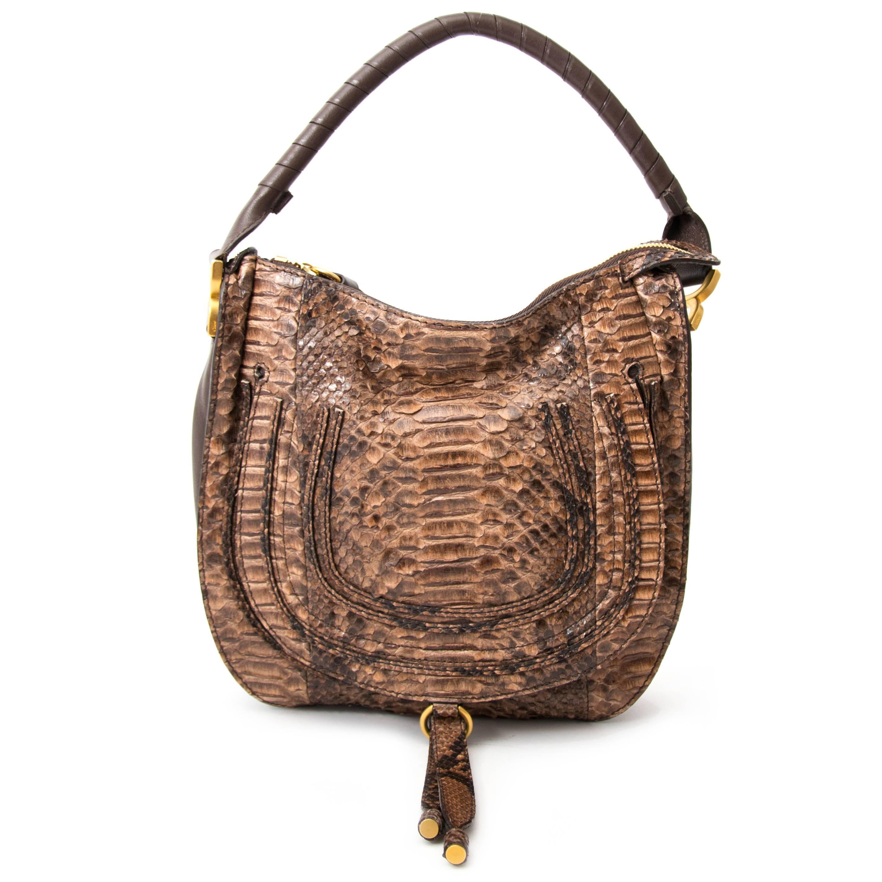 Chloé Python Marcie Satchel Bag For Sale at 1stdibs bc4108870912