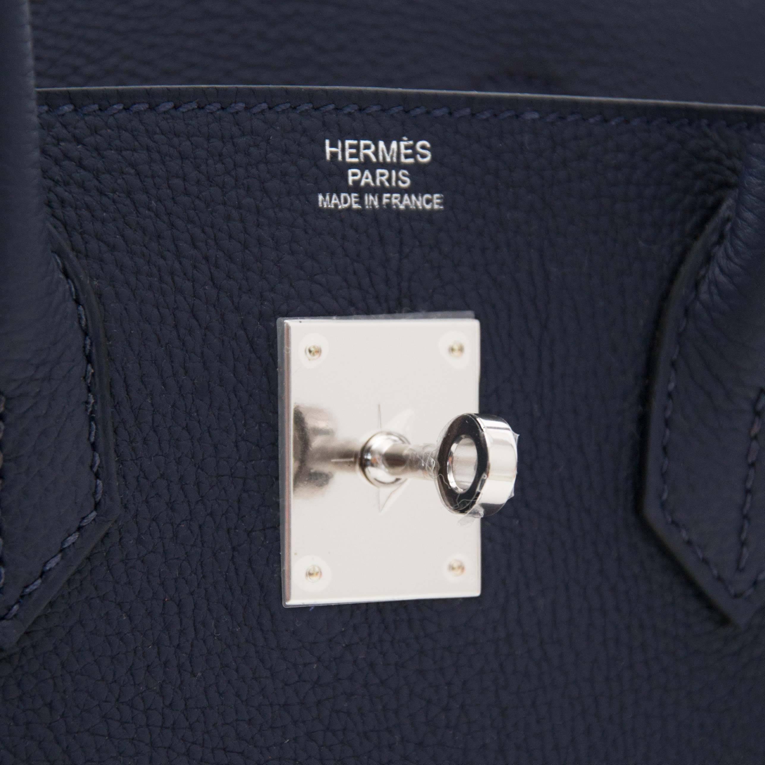 2902b3d446a3 authentic hermes birkin bag 35 chocolat chocolate togo leather silver hard  cfaff 18bbb