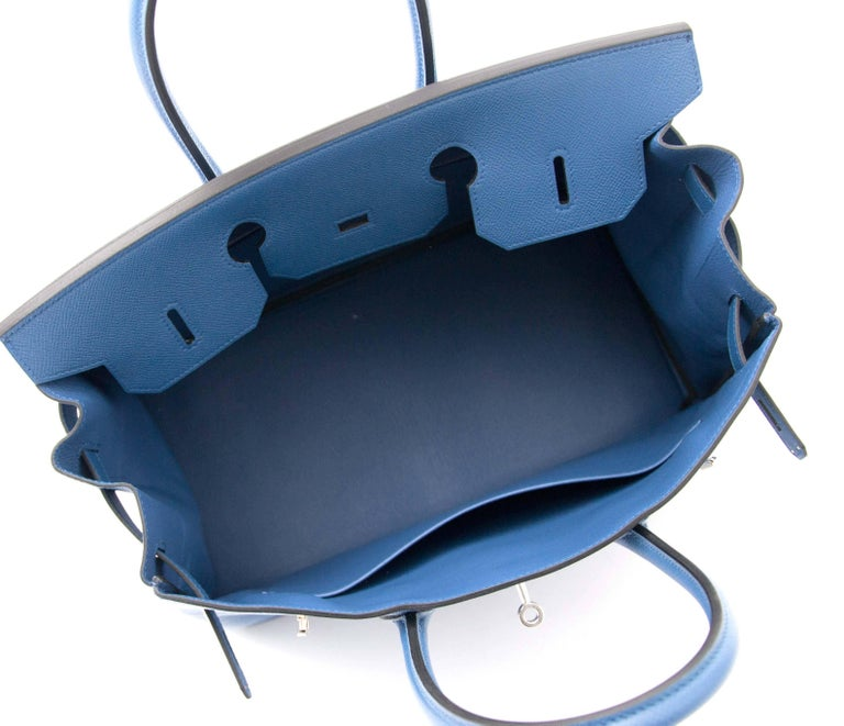 bb2dbe4cec5 Never Used Hermes Birkin 35 Epsom Bleu Agate In New Condition For Sale In  Antwerp