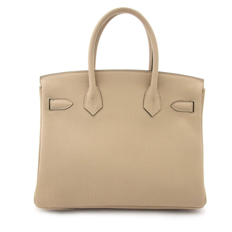 Hermes Birkin 30 Togo Trench PHW In New never worn Condition For Sale In Antwerp, BE