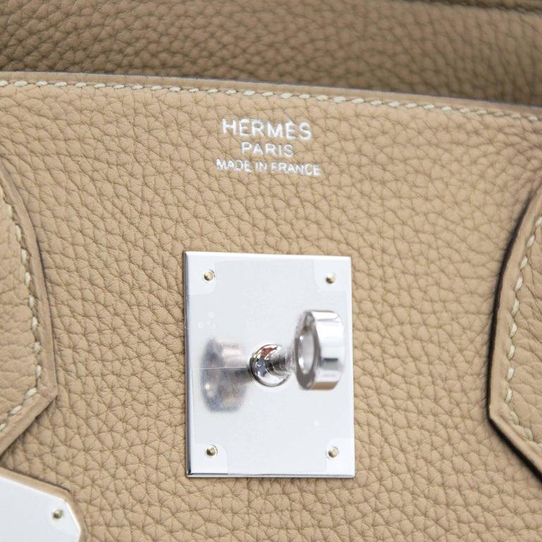 Hermes Birkin 30 Togo Trench PHW For Sale 1