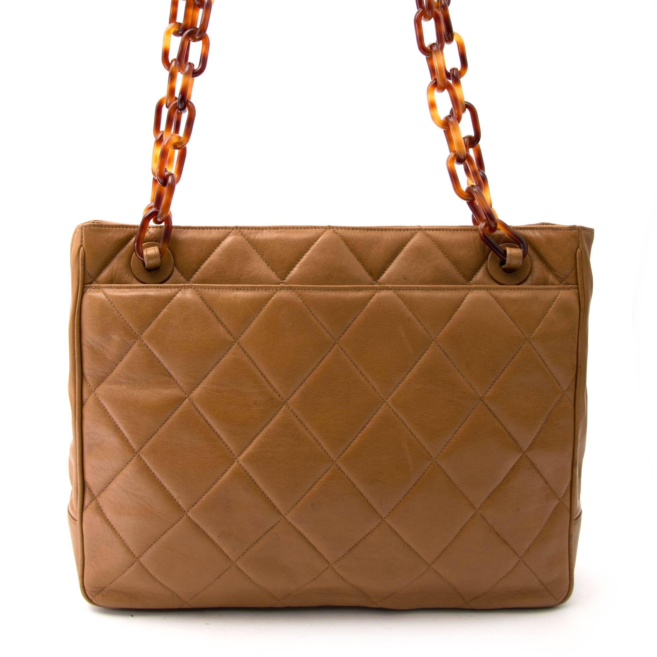 Chanel Biscuit Shopping Tote For Sale at 1stdibs 11e97fd1ed