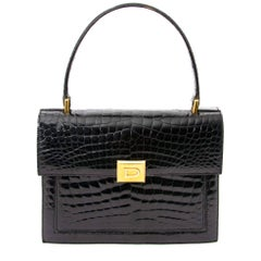 Delvaux Black Croco Bag