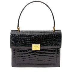 Delvaux Black Croco Bag