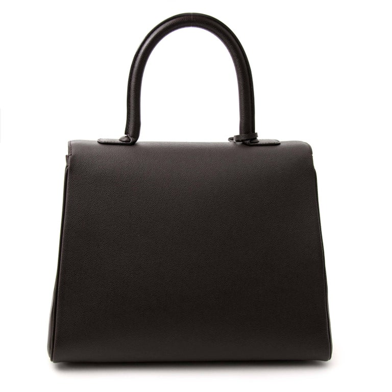 Delvaux Brillant Cafe Veau DiamondExcellent preloved condition  Delvaux Cafe Vea In Excellent Condition For Sale In Antwerp, BE
