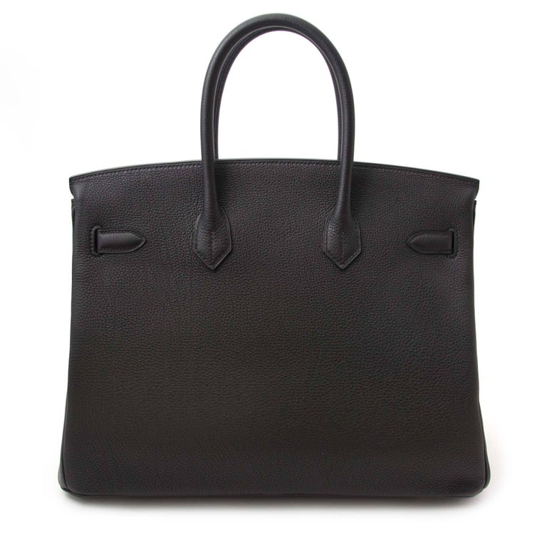 Never Used, comes with full set.  Hermes Birkin 35 Black Togo GHW  This iconic Hermes Birkin 35 Togo bag can be yours, right now! This -inspired by Jane Birkin- bag is made out of the highest scratch-resistant quality leather and features timeless