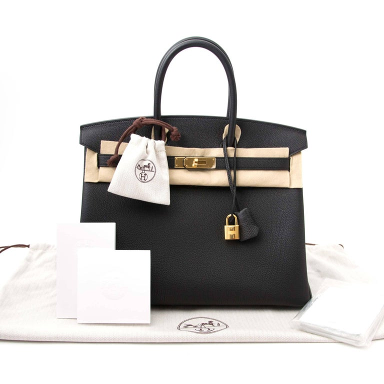 Women's Never Used Hermes Birkin 35 Black Togo  For Sale