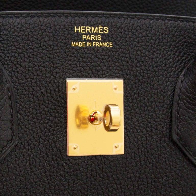 Never Used Hermes Birkin 35 Black Togo  For Sale 1