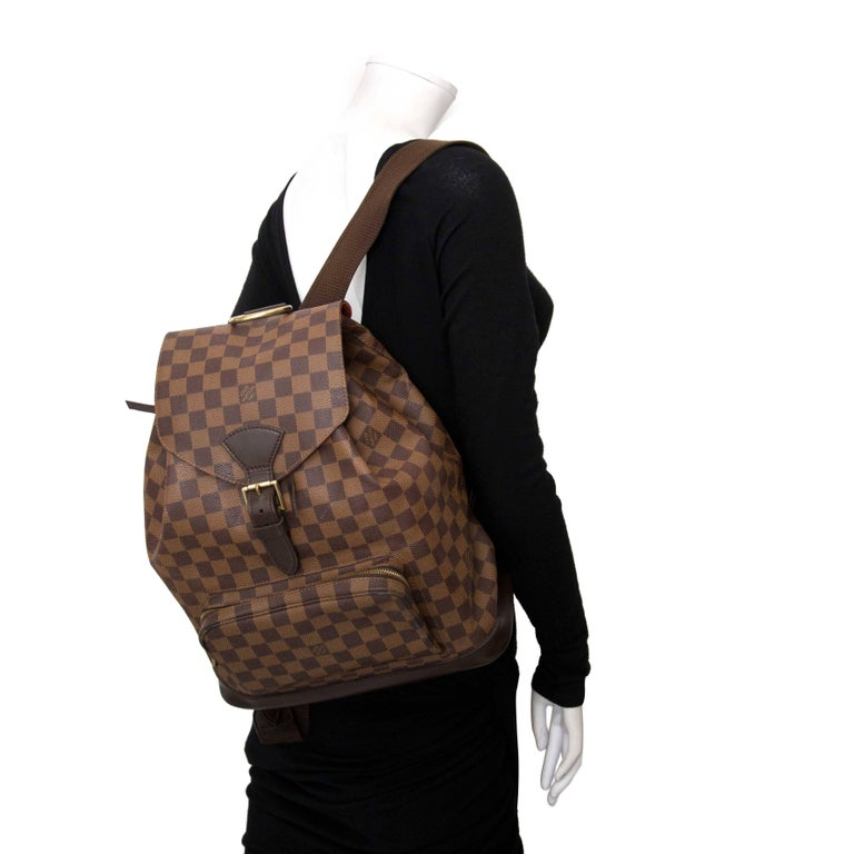 8c23add1d1d0 Black Louis Vuitton Damier Ebene Montsouris MM Backpack Bag For Sale