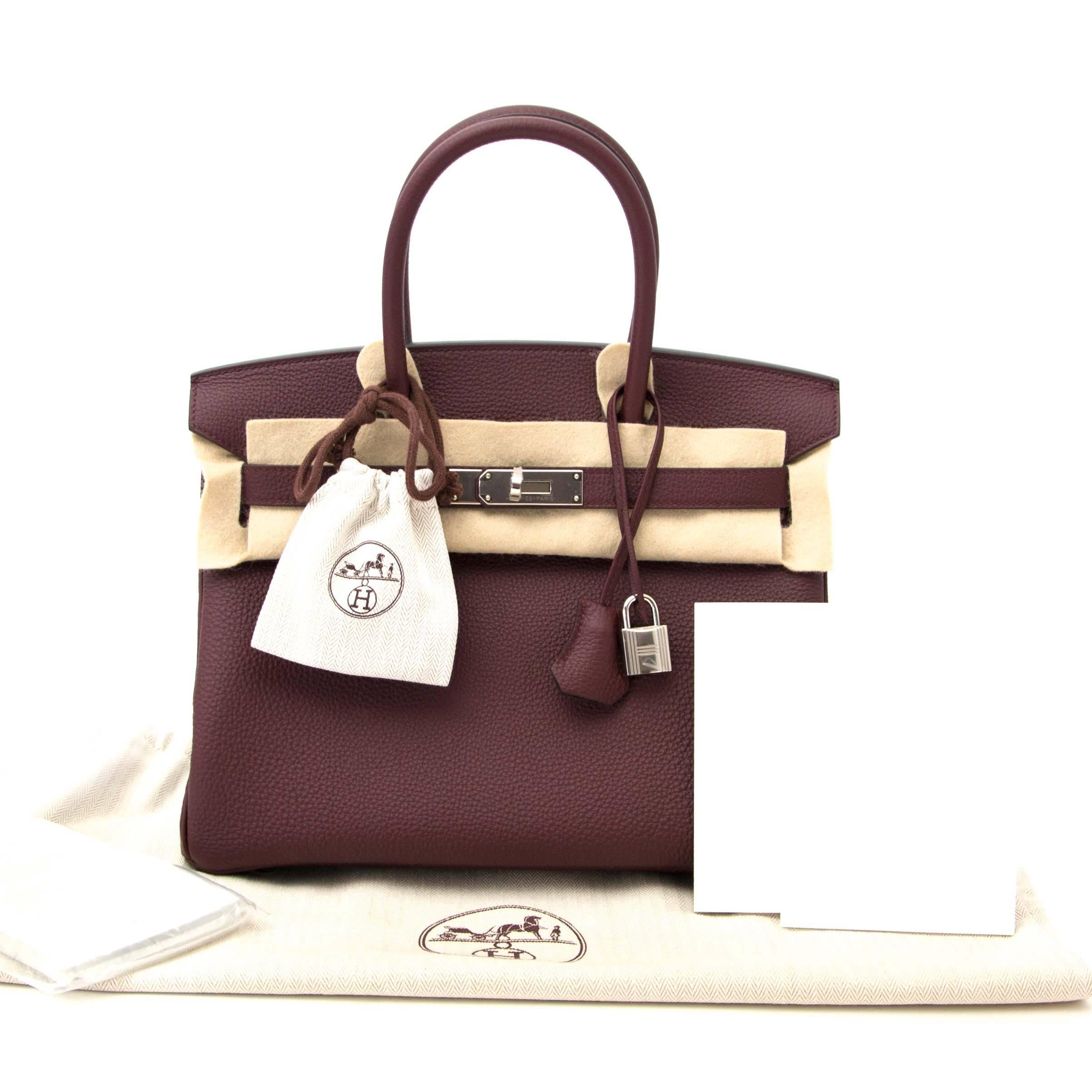 fca5d771b5cc germany hermes birkin bag 30 chocolat chocolate togo leather gold ...