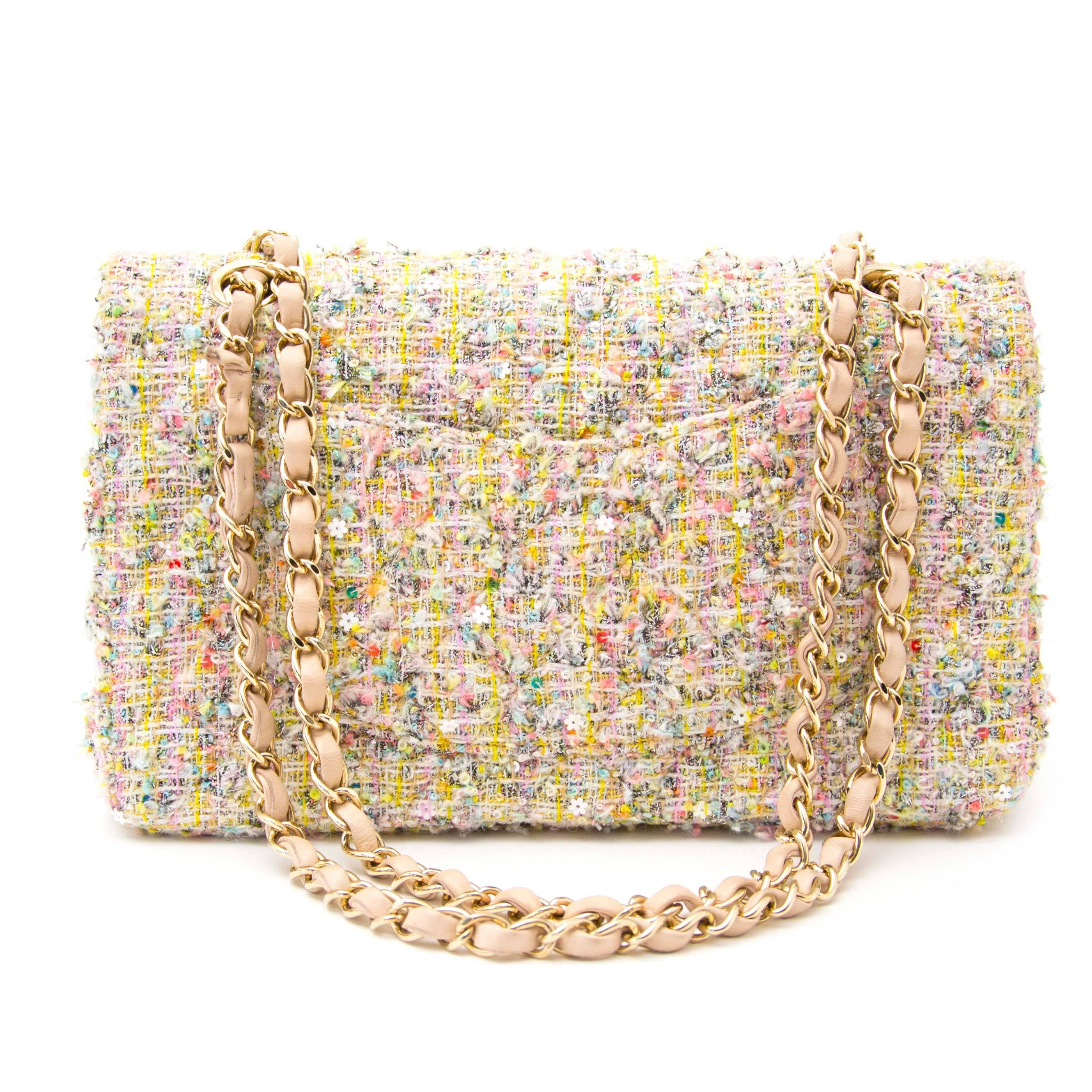 903adf6ce339 Chanel Tweed Garden Party 2.55 Reissue Flap Bag at 1stdibs