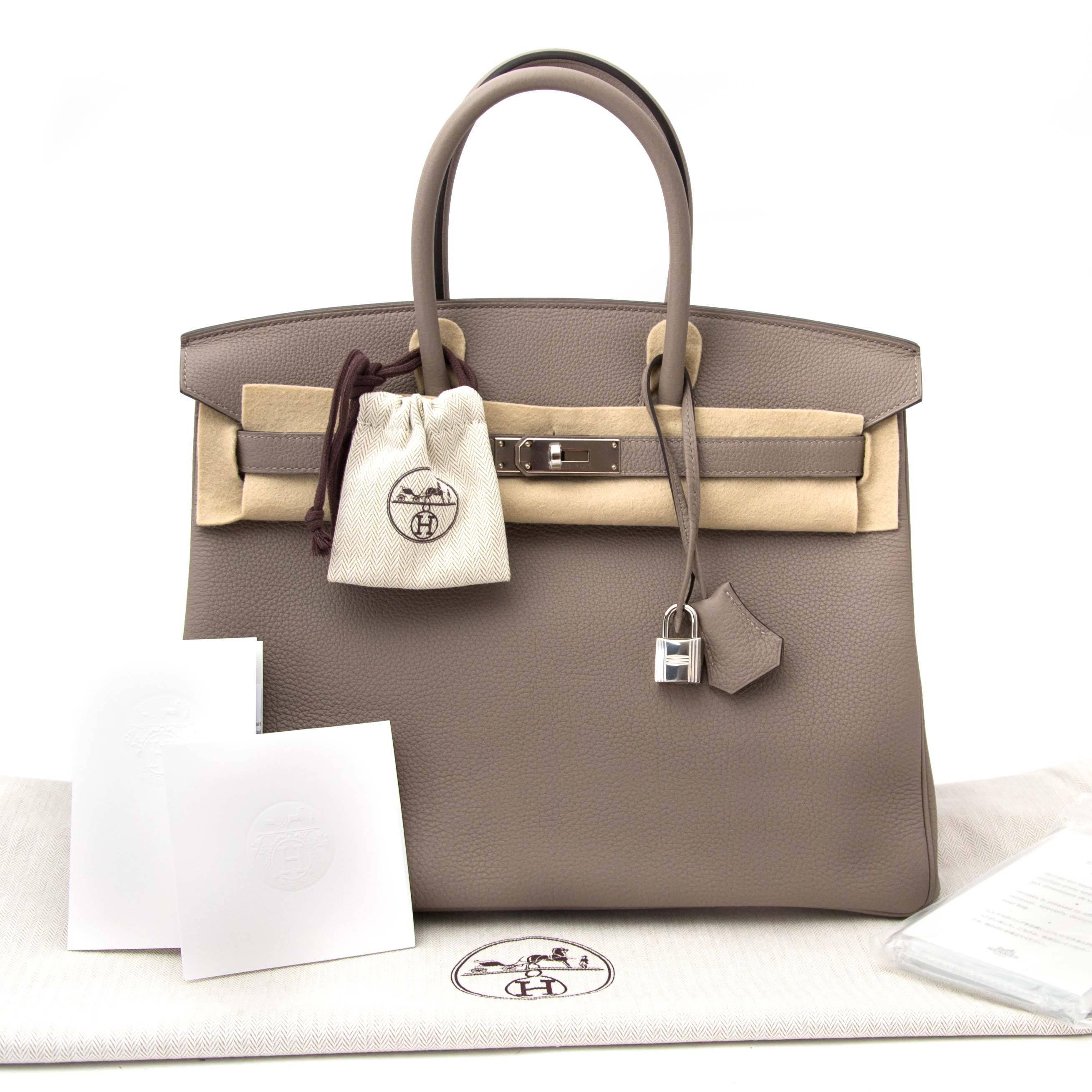 2e6cd3d9ac04 Hermès Birkin 35 Togo Gris Asphalte PHW For Sale at 1stdibs