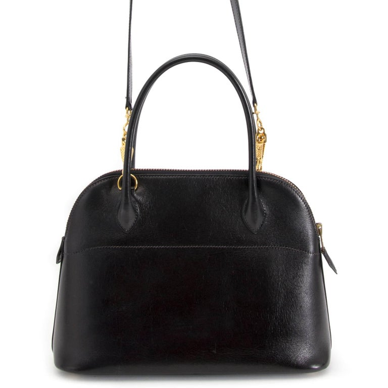 Hermes Black Boxcalf Bolide 27 Bag For Sale 2